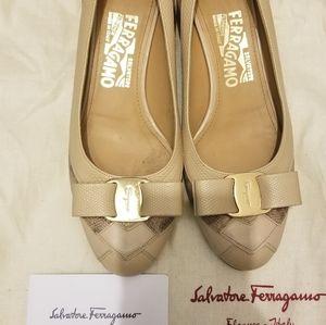 Salvatore Ferragamo Flats Nude color